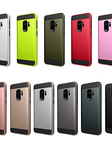 Pouzdro Uyumluluk Samsung Galaxy S9 Toz Geçirmez / Buzlu Arka Kapak Solid PC