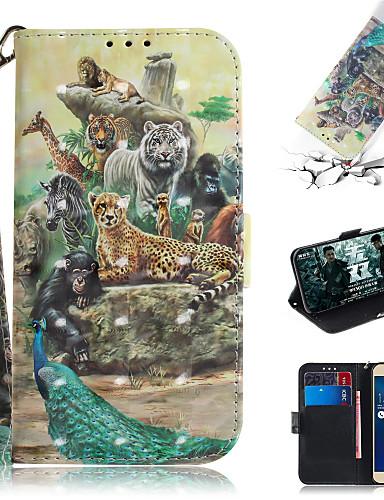 Pouzdro Uyumluluk Asus ASUS Zenfone max M1 ZB555KL Cüzdan / Kart Tutucu / Satandlı Tam Kaplama Kılıf Hayvan / 3D Karikatür PU Deri