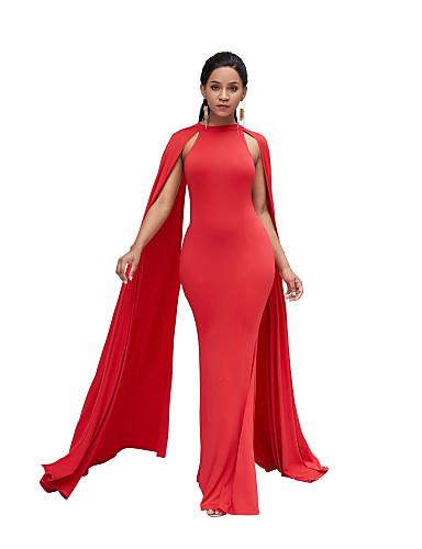 voordelige Maxi-jurken-Dames Verfijnd Elegant Bodycon Schede Jurk - Effen Maxi