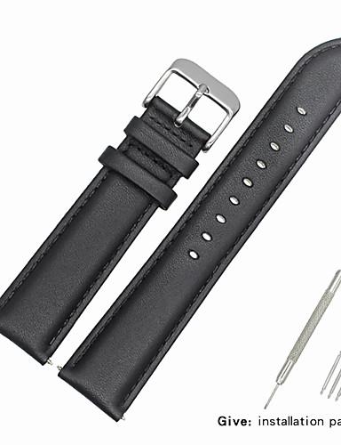 Gerçek Deri / Deri / Buzağı Tüyü Watch Band kayış için Siyah Diğer / 19cm / 7.48 İnç 1.6cm / 0.6 İnç / 1.8cm / 0.7 İnç / 2cm / 0.8 İnç