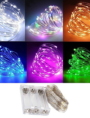 billige Holiday Decoration Light-zdm vanntett 3m 30 led 3aa batteri fe streng lys firefly lys christmas dekor jul lys flere farger