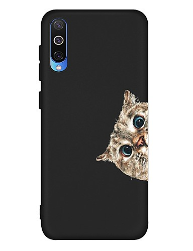 Pouzdro Uyumluluk Samsung Galaxy A6 (2018) / A6+ (2018) / Galaxy A7(2018) Şoka Dayanıklı / Buzlu / Temalı Arka Kapak Kedi TPU