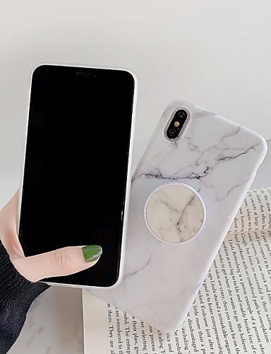 Pouzdro Uyumluluk Apple iPhone XS / iPhone XR / iPhone XS Max Satandlı / IMD / Temalı Arka Kapak Karton / Mermer PC