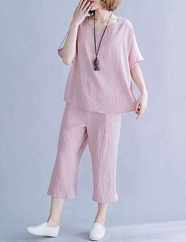 billige Dametopper-Svart / Rosa Ensfarget Standard Spandex Dress - Buet Ingen Knapp