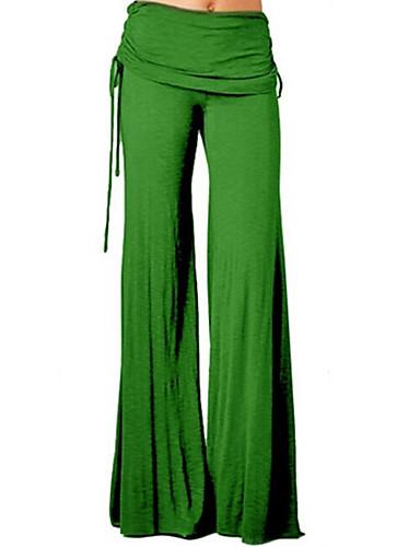 abordables Pantalons Femme-Femme Basique Ample Ample / Chino Pantalon - Couleur Pleine Mosaïque Violet Jaune Bleu clair XXL XXXL XXXXL