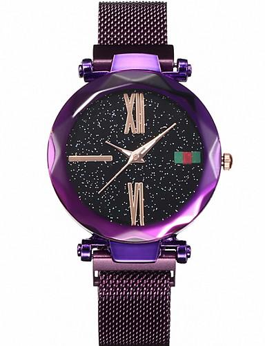 Kadın's Elbise Saat Quartz Gündelik Saatler Analog Klasik - Siyah Mor Altın