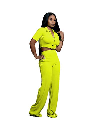 abordables Hauts pour Femmes-Vert / Rose Claire / Bleu Couleur Pleine Coupe Sur-Mesure Polyster Costume - Col Châle Droit 3 boutons