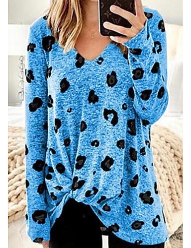 abordables Hauts pour Femmes-Tee-shirt Femme, Géométrique Violet