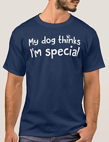 cheap Pre Sale-Men's Daily T-shirt - Letter Tassel Blue