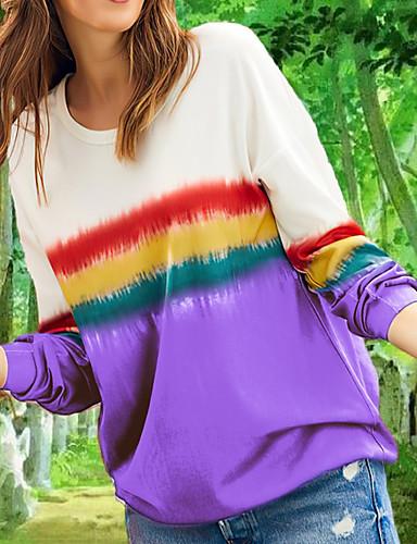 billige Topper til damer-T-skjorte Dame - Fargeblokk Svart