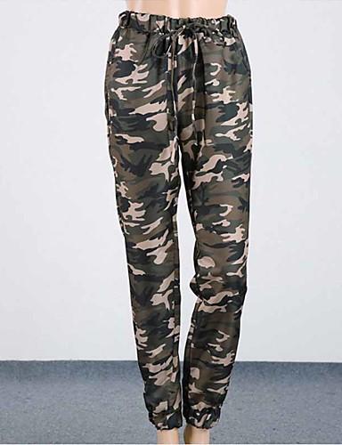 abordables Pantalons Femme-Femme Actif / Chic de Rue Jogger / Chino Pantalon - Camouflage Imprimé Arc-en-ciel S M L