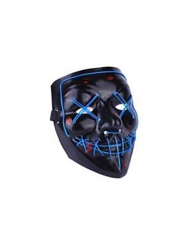 voordelige Sieraden-Spook Hallloween figuren / Vakantiesieraden / Masquerade Mask Tiener Horror / Halloween Heren Azuur / Wit / Paars Kunststoffen Maskerade Cosplayaccessoires Halloween / Carnaval / Maskerade kostuums