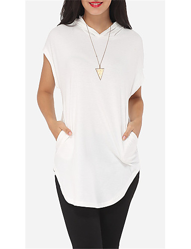 billige Topper til damer-T-skjorte Dame - Ensfarget Hvit