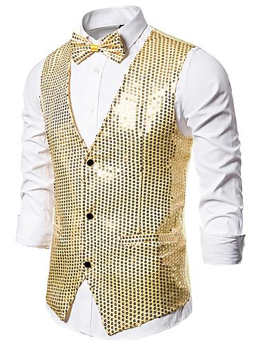voordelige Herenblazers & kostuums-Teryleen Decoraties Prestatie / Club Modieus / Pailletten Effen / Lovertje / Klassiek