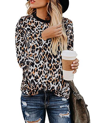 billige Dametopper-T-skjorte Dame - Leopard Punk & Gotisk Hvit