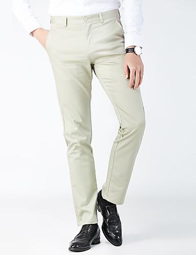 Erkek Temel Takım Elbise Pantolon - Solid Siyah Haki US32 / UK32 / EU40 US34 / UK34 / EU42 US36 / UK36 / EU44