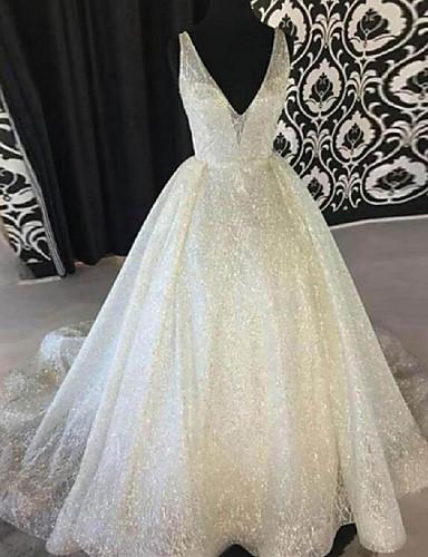 voordelige Maxi-jurken-Dames Boho Elegant Wijd uitlopend Jurk - Effen, Blote rug Patchwork Maxi