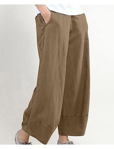 abordables Pantalons Femme-Femme Basique Chino Pantalon - Couleur Pleine Noir Gris Clair Rouge M L XL