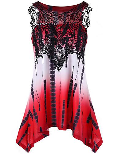 abordables Robes Femme-Femme Basique Asymétrique Trapèze Robe Géométrique Violet Rouge Vert S M L Sans Manches