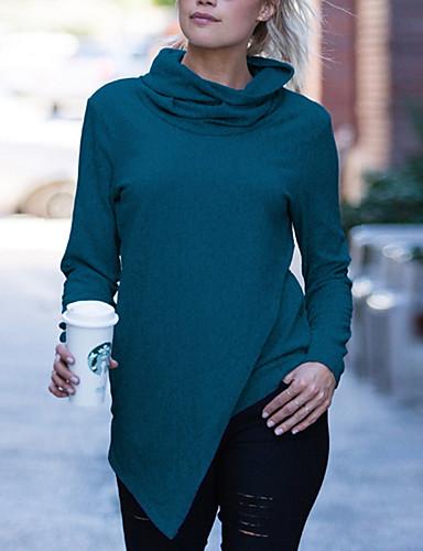 abordables Hauts pour Femme-Tee-shirt Femme, Couleur Pleine Rose Claire