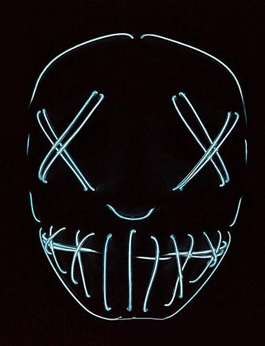 voordelige Sieraden-Spook Hallloween figuren / Vakantiesieraden / Masquerade Mask Tiener Horror / Halloween Heren Azuur / Wit / Paars PVC Maskerade Cosplayaccessoires Halloween / Carnaval / Maskerade kostuums / Dames