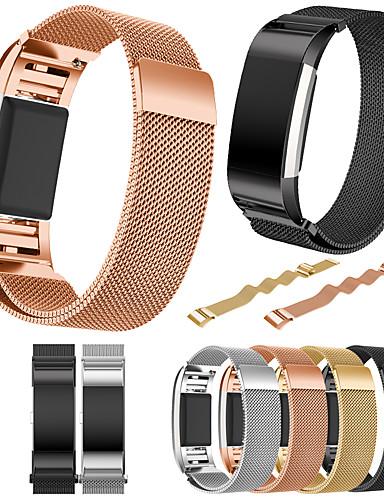 Watch Band için Fitbit Charge 2 Fitbit Spor Bantları Paslanmaz Çelik Bilek Askısı