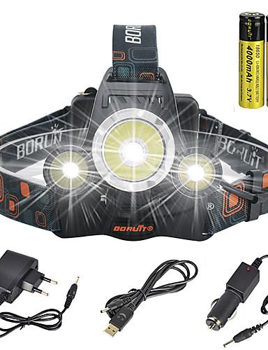 povoljno Vanjske baterije i više-Svjetiljke za glavu sigurnosna svjetla Svjetlo za bicikle 13000 lm LED LED emiteri 1 rasvjeta mode s baterijama i punjačima Anglehead Pogodno za vozila Super Light Kampiranje / planinarenje