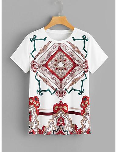 billige Topper til damer-T-skjorte Dame - Tribal Grunnleggende / Gatemote Hvit