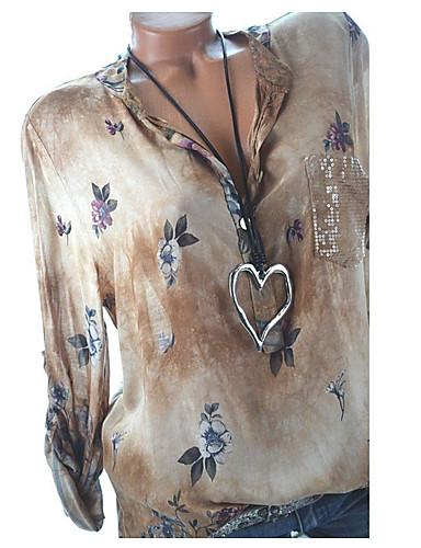 povoljno Majica-Majica Žene Dnevno Cvjetni print Svjetloplav
