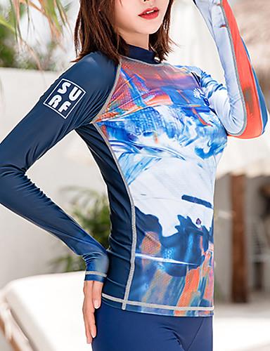 baratos Roupas de Mergulho & Camisas de Proteção-SBART Mulheres Elastano SPF50 Proteção Solar UV Secagem Rápida Manga Longa Natação Surfe Moderno Primavera Verão Outono