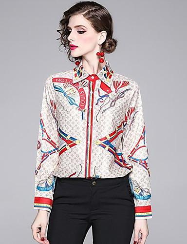povoljno Ženske majice-Majica Žene Dnevno Geometrijski oblici Bež