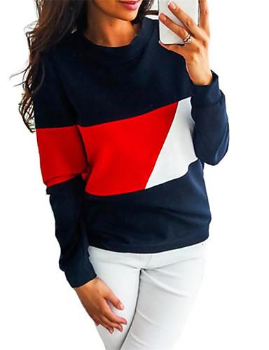 Kadın's Tişört Kırk Yama, Zıt Renkli Temel Doğal Pembe