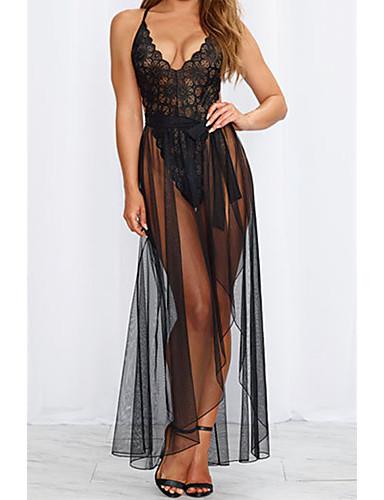 Kadın's Etekler - Solid / Çiçekli / Jakarlı Dantel / Bölünmüş / Desen Beyaz Siyah L XL XXL / Sexy