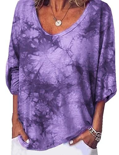 povoljno Majica s rukavima-Majica s rukavima Žene Dnevno Kravata Kolaž Lila-roza