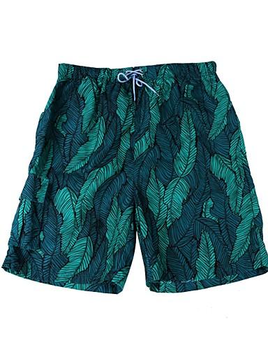 voordelige Herenondergoed & Zwemkleding-Heren Sportief Standaard Klaver Zwembroek Slips, shorts en broeken Zwemkleding - Geometrisch Print L XL XXL Klaver