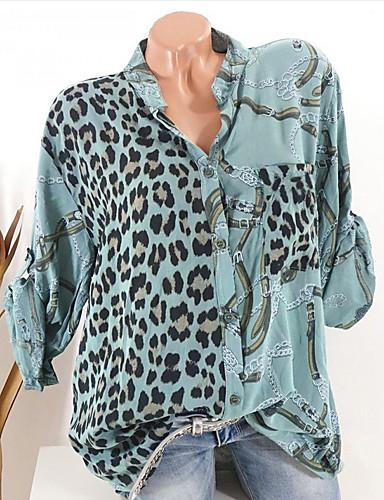 billige Topper til damer-Skjorte Dame - Leopard Svart