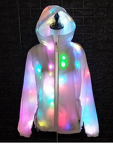 hesapli Dans kostümleri-Dans kostümleri Üstler Unisex Performans Polyester Tafta LED Uzun Kollu Palto