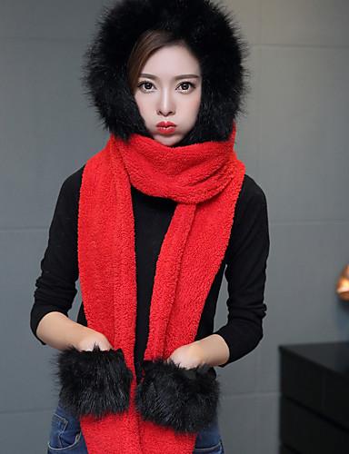 voordelige Damesaccessoires-Unisex Standaard / leuke Style Effen / Kleurenblok Rechthoekige sjaal -
