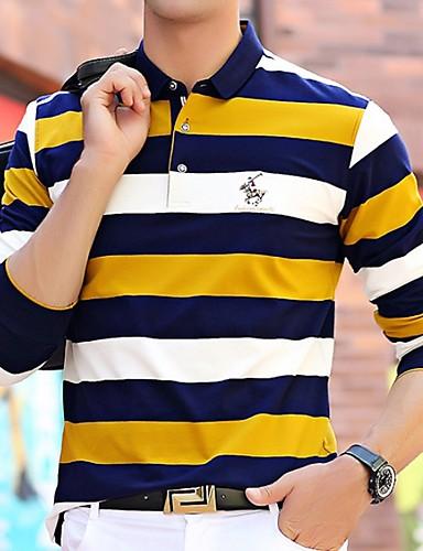 voordelige Heren T-shirts & tanktops-Heren T-shirt Gestreept Geel