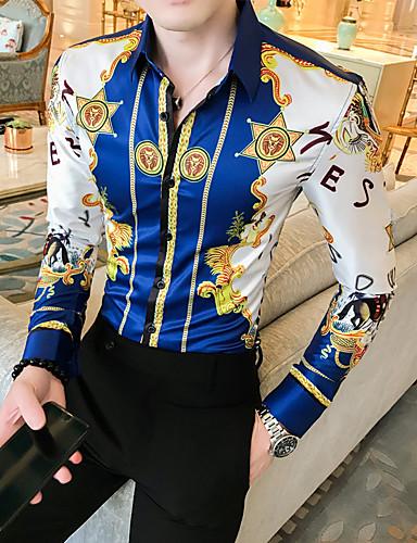 cheap 10/15-Men's Daily Shirt - Geometric Blue