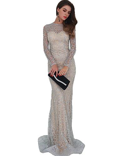 voordelige Maxi-jurken-Dames Elegant Schede Jurk - Effen Maxi