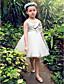 levne Dívčí květinové šaty-Plesové šaty / Princess Ke kolenům Šaty pro květinovou družičku - Satén / Tyl Bez rukávů Kopeček s Mašle / Křišťály / Perličky