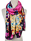 Недорогие Модные шарфы-Для женщин Винтаж/Очаровательный/Для вечеринки/Для офиса/На каждый день Для женщин Шарф Шифон