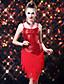 cheap Latin Dance Wear-Latin Dance Dresses Women's Performance Polyester Spandex Sequined Sequin Tassel Dress