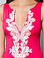 cheap Evening Dresses-Mermaid / Trumpet Plunging Neckline Sweep / Brush Train Jersey Formal Evening Dress with Appliques by TS Couture®