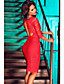 olcso Női ruhák-Női Bodycon Ruha - Csipke, Egyszínű