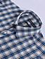 povoljno Muške košulje-JamesEarl Muškarci Kragna košulje Dugi rukav Shirt & Bluza Cijan - MB1XC000905
