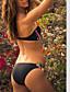 povoljno Bikini i kupaći 2017-Ženski Bikini - Grudnjak na vezanje - Push-up - Color block / S cvjetnim printom - Poliester