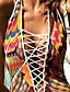 povoljno Bikini i kupaći 2017-Žene Poliester Color block Grudnjak s tankim naramenicama Jednodijelno Kupaći kostimi Color block Bijela