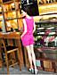 저렴한 여성용 하의-여성의 캐쥬얼 점프 슈트 민소매 약간의 신축성 얇음 폴리에스테르